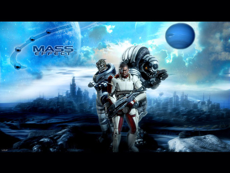 mass effect blue and deadly - planets, mass effect, space, video games, blue