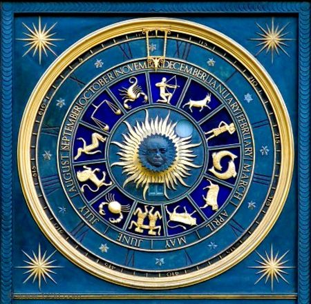 Blue zodiac - 12, zodiac, photography, blue, abstract, astrology