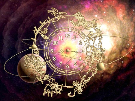 Pink zodiac - pink, abstract, 3d, universe, fantasy, planet, popular, astrology, 12