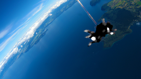 Skydiving - sport, new zealand, blue, skydiving