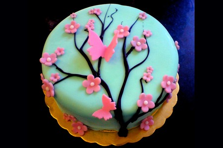 Tiffany-Blue-Blossom-Tree-Cake - cake, tree, blossom, beautiful, tiffany, blue, picture