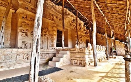 Carvings at Ek Balam - ancient, mayan, pyramid, architecture