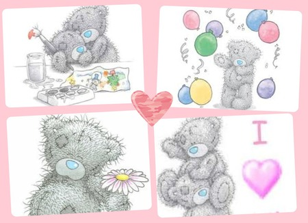 Cute Tatty Teddy Collage Other Anime Background
