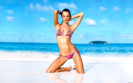 Alessandra Ambrosio - sexy, water, hot, alessandra ambrosio, beach