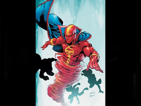 Red Tornado - fantasy, comic, art, red, tornado