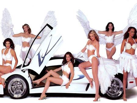 Lamborghini and hot girls - girls and cars