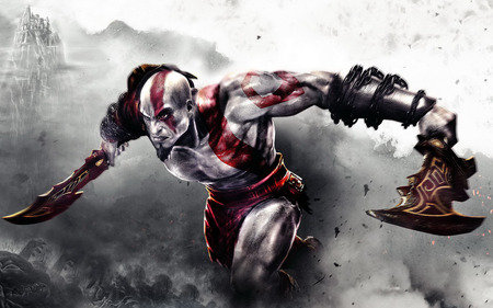 God of War 3 - warrior, god of war 3, god of war, sword, wide