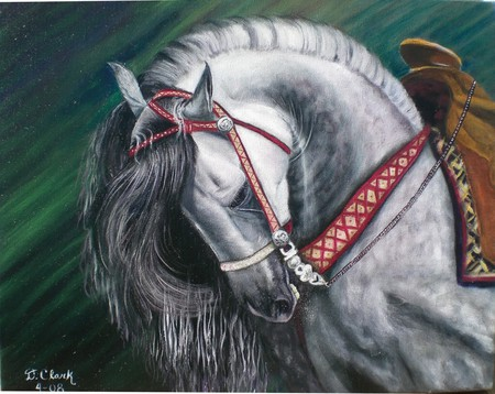 Baroque Grey - spanish, andalusian, grey, horses, dappled grey, baroque