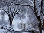 Snowy White House Driveway