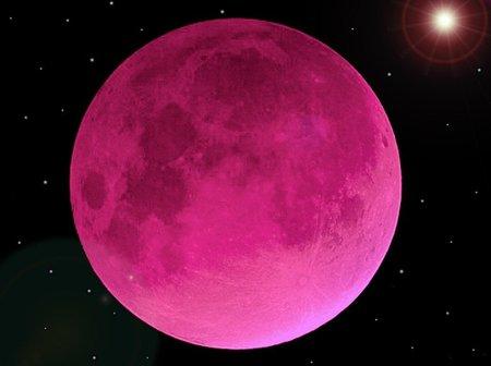Pink Moon Sky Nature Background Wallpapers On Desktop