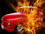 Chrysler Plymouth On Fire, Call 911