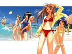 love hina manga beach