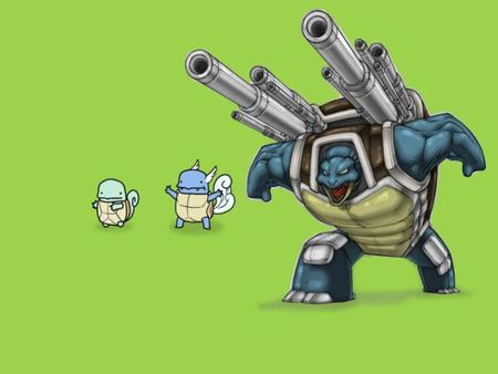 Evolution - videogame, blastoise, video game, anime, squirtle, wartortle, evolution, nintendo, pokemon
