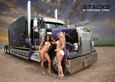 Big Rig - babes, stacks, truck, models