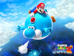 -Air balloon Yoshi - and Mario-