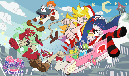 Panty And Stocking Christmas Other Anime Background