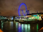 Night view of the London Eye