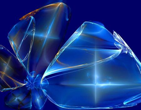 The vase - design, beauty, blue, light, glass, crystal, vase