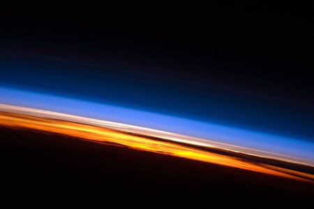 Sunset seen from the International Space Station - iss, photograph, indian ocean, sunset, space