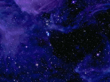Deep Space - stars, blue space, outer space, space