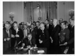 Signing the civil rights act 1964