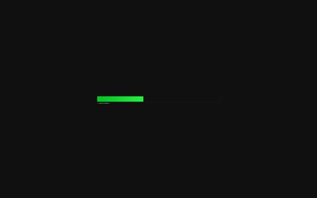 Loading Wallpaper - green, dark, bar, black, loading, minimalism