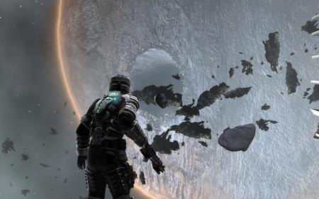 Dead Space Zero Gravity - rocks, advanced, debris, space, deadspace, sick, game, horror, video, marine, scary, gravity, soldier, dead, clark, clarke, asteroids, dead space, planet, zero, belt, awesome, suit, ea, moon, future, amazing, rig, isaac, crater, trooper, armor, unreal, skull
