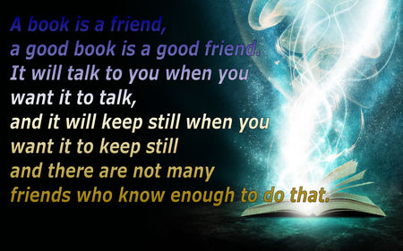 Friends are like Books - mystical, quotes, love, book, friends