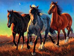 Painting - Three Horses