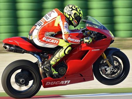 Vale on a Ducati - motorbike, rossi, ducati, motogp, red
