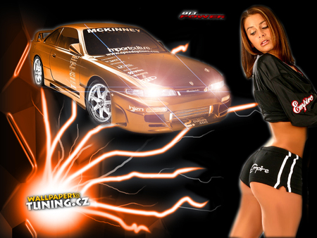Orange Flame Girls And Cars Cars Background Wallpapers On