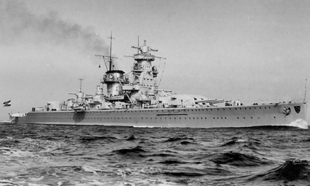 Admiral Scheer - german, war, pocket battleship, germany, cruiser, ww2, scheer, kriegsmarine, admiral, battleship, navy