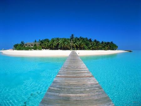 Beautiful Island - beautiful, oceans, sky, island, nature, beach
