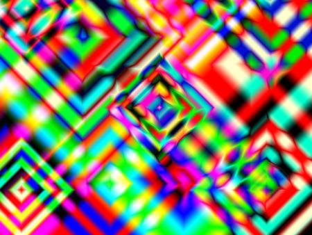 Rainbow Diamonds - diamond square diagonals rainbow red orange illusion yellow gree