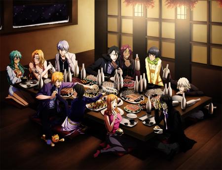 Bleach Party - urahara kisuke, ichimaru gin, neliel, byakuya, orihime, anime, kuchiki rukia, soi-fon, neliel tu oderschvank, ichigo, inoue orihime, rangiku, kuchiki byakuya, drunk, party, characters, yoruichi, kisuke, sake, gin, soifon, ulquiorra schiffer, matsumoto rangiku, alcohol, rukia, group, shihouin yoruichi, bleach, ulquiorra, kurosaki ichigo