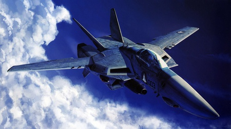 Fighter Plane - beautiful, sky, clouds, aircraft, fighter plane, plane, military, nature, blue