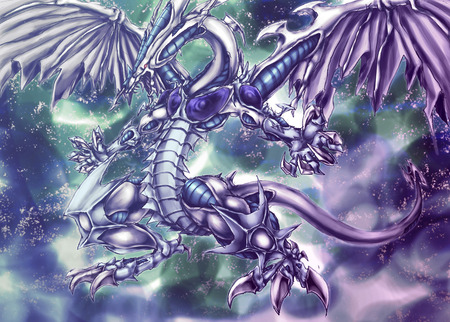 Stardust Dragon - wings, yugioh, stardust dragon, monster, anime, yu-gi-oh, tail, claws, yu gi oh, dragon