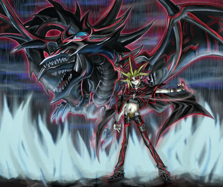 yami yugi slifer the sky dragon yu gi oh anime background