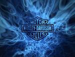 Harley-Davidson Blue Flames