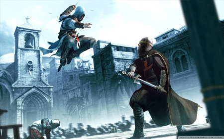 Lethal - stunning, hd, action, assassins creed, video game, game, assassins, assassin, assassin altair, attack, ubisoft, altair, wide, adventure, hero, lethal, hidden blade