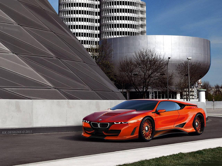 BMW M1 Tuning - bmw m1, beeema, new bmw, orange bmw, m1, concept, bmw tuning, kk designs, car wallpaper, bmw concept, virtualtuning