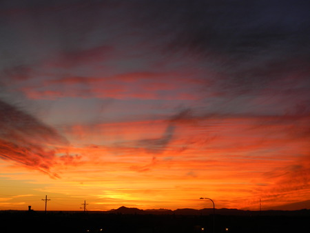 Ablaze - colorful, amazing, sun, sky, set, triplerubik, mexico, sunsets, new, day, nature, new mexico, ablaze, night