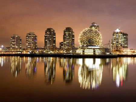 Downtown Vancouver - vancouver, british-columbia, false-creek, reflected, downtown