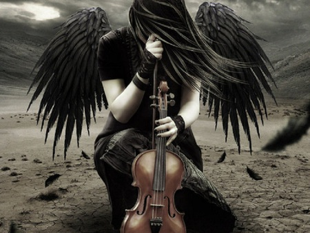 Music of Angels - beauty, fantasy, music, angel