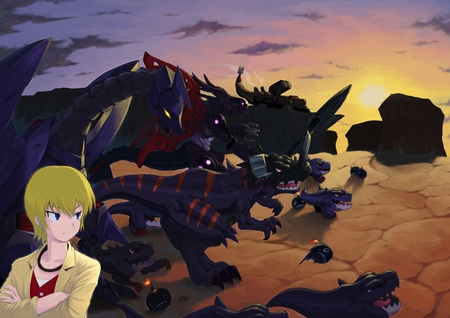 world digimon - black wargreymon, mosnter, world, people, digimon