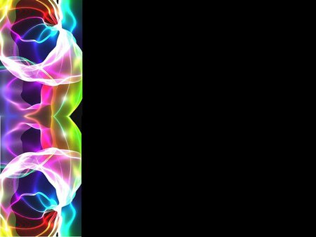 Neon left border background - border, neon, abstract, black ...