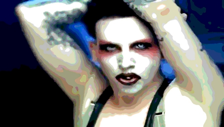Marilyn - texturized, singer, marilyn, manson