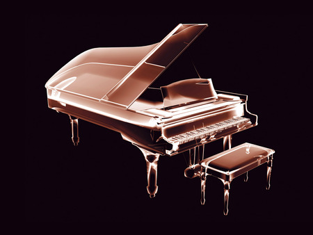 3D Neon Piano - beautiful, colorful, 3d and cg, neon, piano, 3d