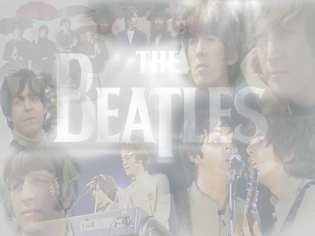 The Beatles - harrison, classic rock, british, collage, starr, mccartney, lennon