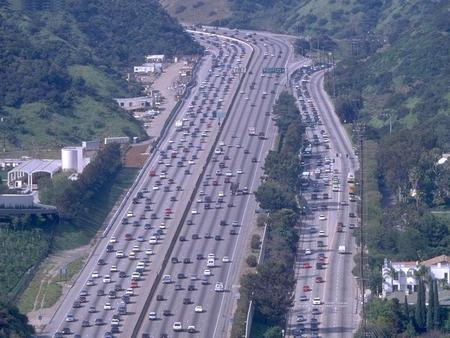 Traffic Of Los Angeles !!! - highway, freeway, los angeles, vehicles, traffic